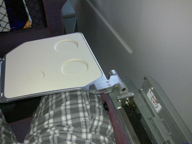 我的座位,小桌板半开
